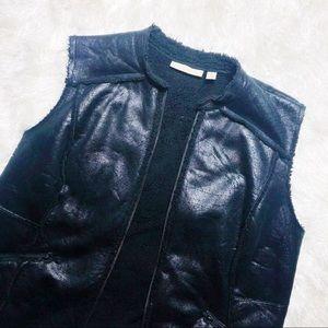 Sejour black sherpa vest